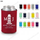 Red cheap can cooler personaliz