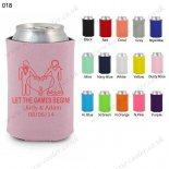 Dusty rose custom beer can cool
