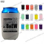 Gray Cheap neoprene koozies personalized 002