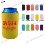 Yellow personlized collapsible can koozie 029
