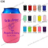 N.pink foldable customized neoprene cola koozie 036