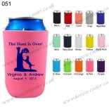 N.pink printing fashionable neoprene can koozie 051