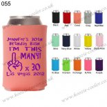 Coral new fashion can cooler birthday koozie 055