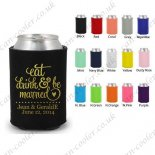 custom can cooler wedding gifts