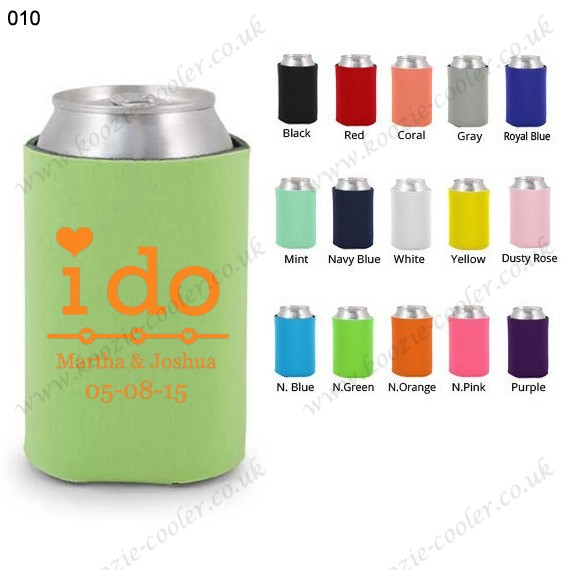 Mint foam can cooler personalized koozies 010