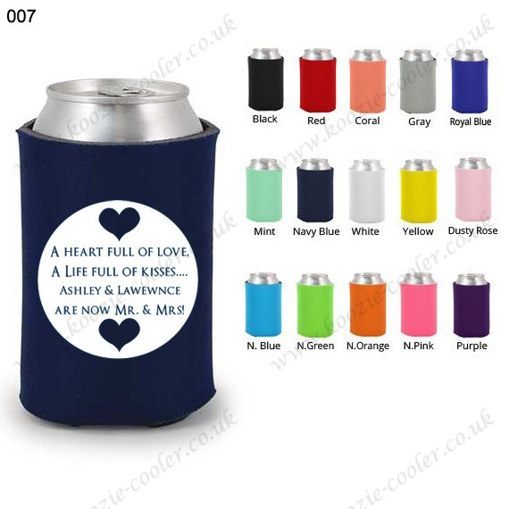 Navy blue fashion koozie can cooler custom 007