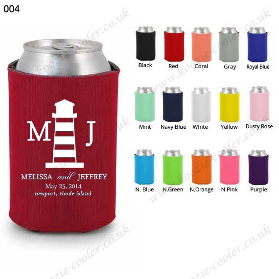 Red cheap can cooler personalized wedding favors 004