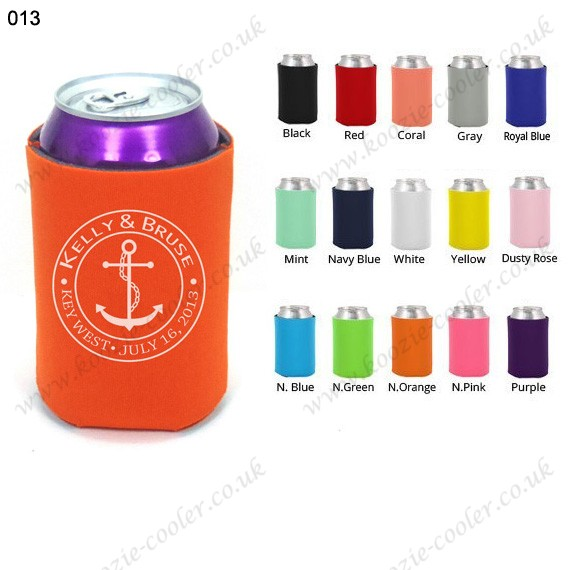 N.orange Promotional neoprene can coozie beer koozie 013
