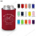 Red customized koozie cooler color printing 020