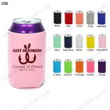N.pink neoprene can holder koozie cover cooler bag 038