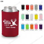 Red personalized can koozie cooler custom 039
