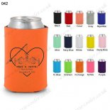 N.orange can koozie cover neoprene cooler 042