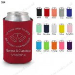 Red collapsible party can koozie neoprene 054