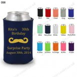 Navy blue stubby can cooler wed