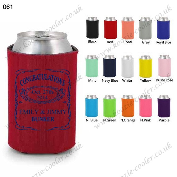 Red high quality red customized beer koozie 061