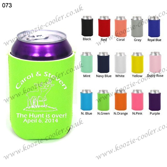 N.green custom made beer koozie can cooler 073