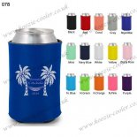Royal Blue neoprene beer koozie with high quality 078