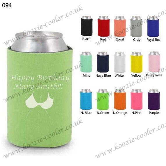 Mint beer cooler can koozie for wedding 094