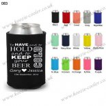 Black cheap promotional neoprene beer holders 083