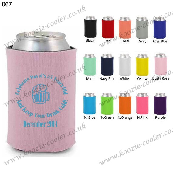 Dusty Rose design foam high quality can cooler 067