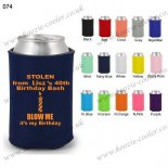 Navy Blue hot design can cooler for wedding 074