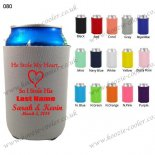 Gray top quality priting neoprene can cooler 080