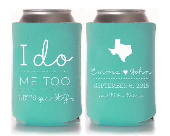 Remember a day by wedding koozie personalised wedding for Where can i find wedding decorations