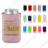 wedding can cooler custom koozi