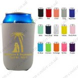 customized can cooler wedding