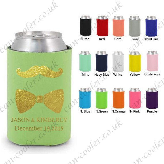 collapsible can cooler wedding koozie