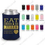 monogram koozie wedding custom