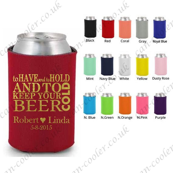 beer can cooler personalised coozie