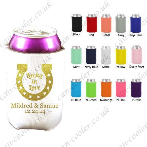 personalised wedding can cooler party cozy