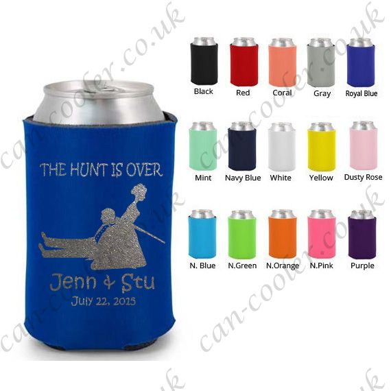 personlized wedding beer can holder