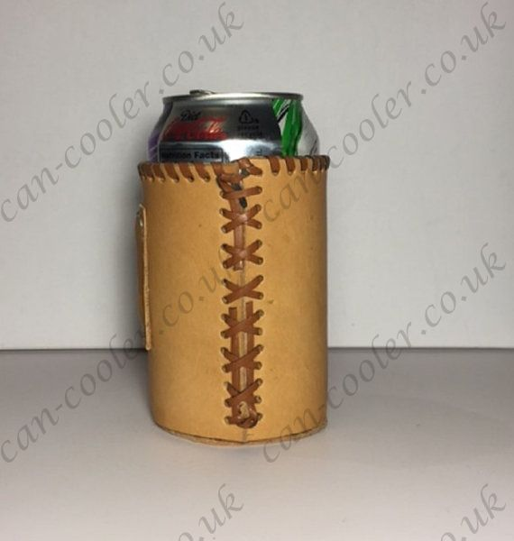 leather can cooler personalised favor