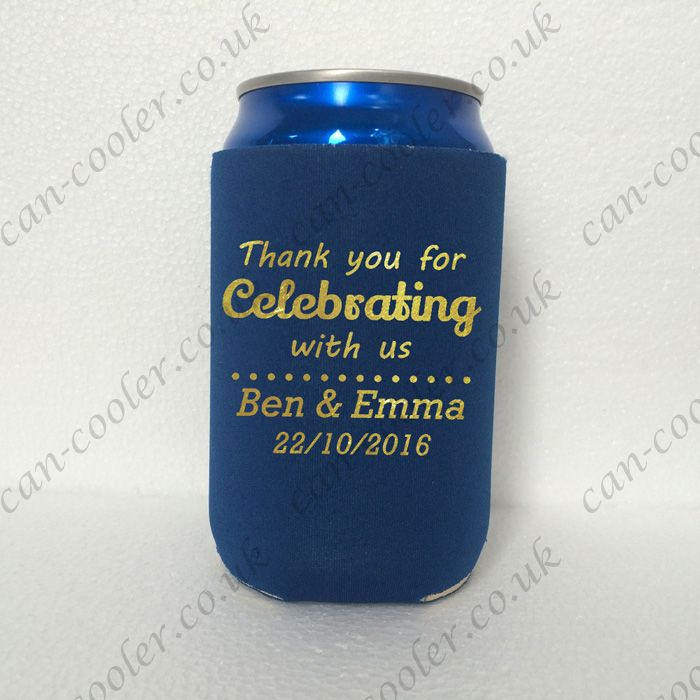 wedding party koozie can cooler personalised wedding koozie