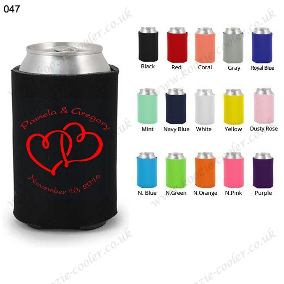 Black popular promotional neoprene can cooler koozie 047