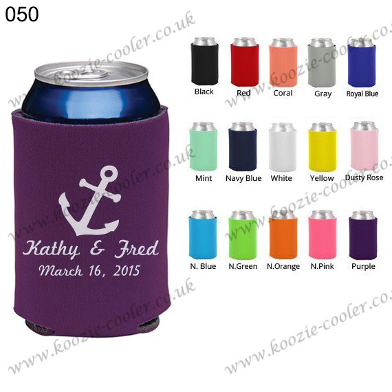 Purple personalized wedding favors new style koozie 050