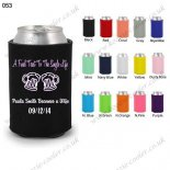Black neoprene wedding koozie s
