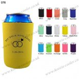Yellow factory price sublimation stubby holder 076