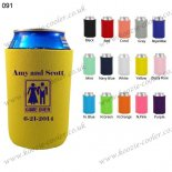 Yellow promotional customized quality stubby holders 091
