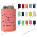 coral beer koozie neoprenen hot